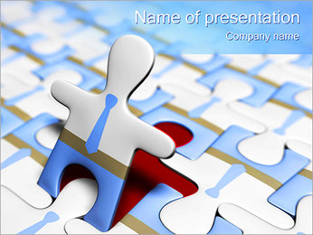 Puzzle Man PowerPoint Template