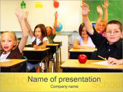 Kids in Classroom PowerPoint Templates
