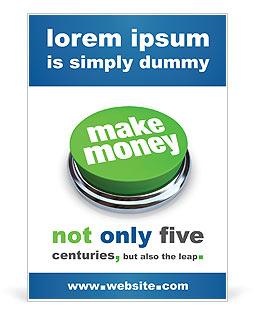 Make Money Button Ad Template