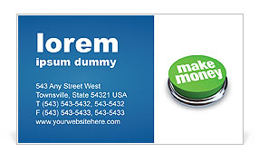 Make Money Button Business Card Templates