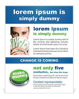 Make Money Button Flyer Template Design ID - Money flyer template