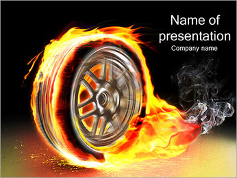 Fire Wheel PowerPoint Template