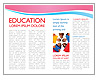 Students in Library Brochure Template