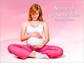 Zwangere Vrouw Sjablonen PowerPoint presentatie