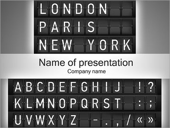 Airways Шаблоны презентаций PowerPoint