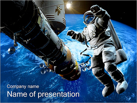 Astronaut in outer space powerpoint template backgrounds id astronaut in outer space powerpoint templates toneelgroepblik Images