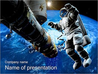 L'astronaute dans l'espace Modèles des présentations  PowerPoint