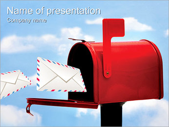 Mailbox PowerPoint Template - Slide 1