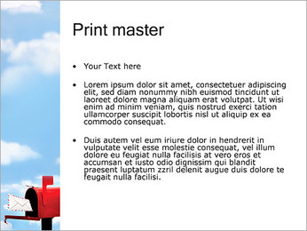 Mailbox PowerPoint Template - Slide 24