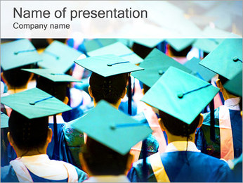 Graduation Students PowerPoint Template