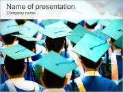 卒業学生 PowerPointプレゼンテーションのテンプレート