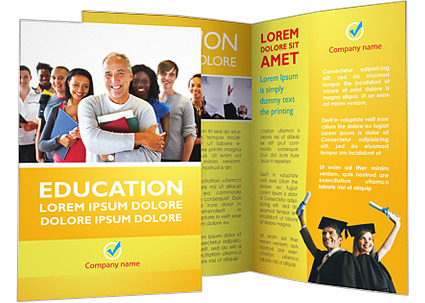 Happy Students Brochure Template & Design ID 0000002429 ...