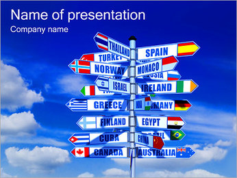 Countries and Ways PowerPoint Template