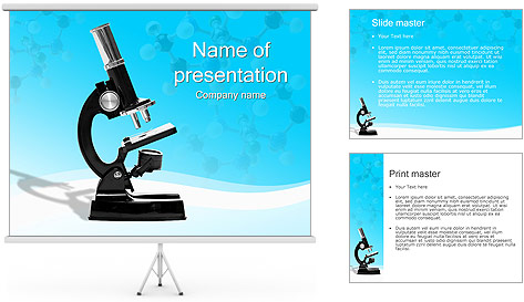 Microscope PowerPoint Template & Backgrounds ID 0000002433 ...