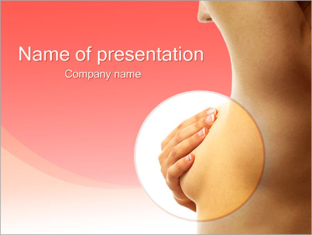 breast cancer powerpoint template & backgrounds id 0000002435, Powerpoint templates