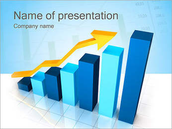 Business grafiek Sjablonen PowerPoint presentatie