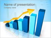 O gráfico de negócio Modelos de apresentações PowerPoint