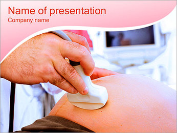 Pregnant Woman Ultrasound PowerPoint Template - Slide 1
