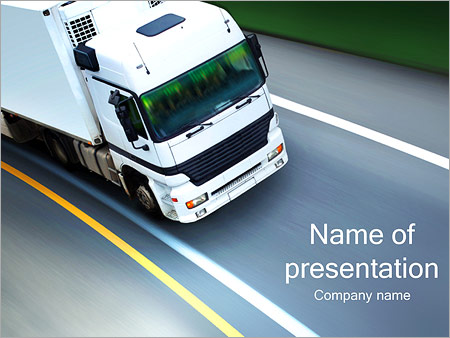 white truck powerpoint template backgrounds google slides id