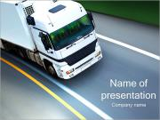 White Truck PowerPoint Templates
