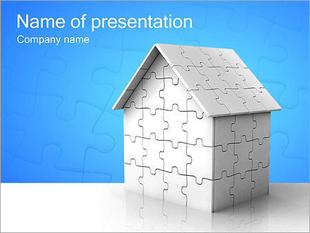 Puzzle House Powerpoint Template Backgrounds Google Slides Id