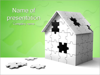 House Missing Parts PowerPoint Template