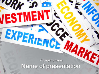 Business Word Collage PowerPoint Template