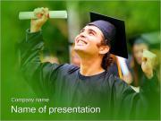 幸せな卒業 PowerPointプレゼンテーションのテンプレート