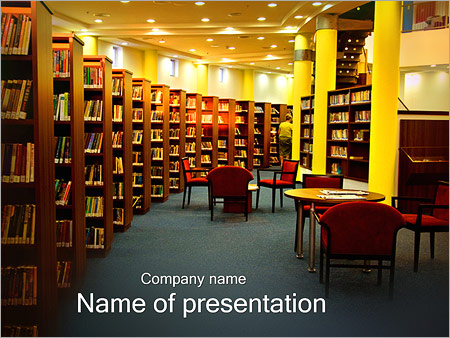 library powerpoint template & backgrounds id 0000002450, Presentation templates