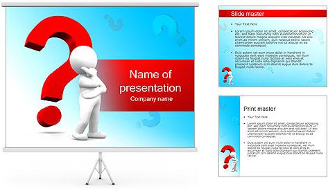 Homem e do ponto de interrogação Modelos de apresentações PowerPoint