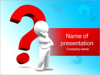 Man and Question Mark PowerPoint Template