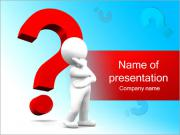 Man and Question Mark PowerPoint Templates