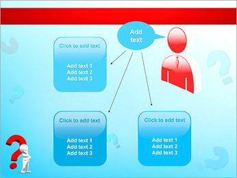 Homem e do ponto de interrogação Modelos de apresentações PowerPoint - Slide 12