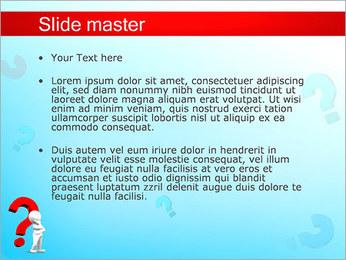 Homem e do ponto de interrogação Modelos de apresentações PowerPoint - Slide 2
