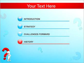 Homem e do ponto de interrogação Modelos de apresentações PowerPoint - Slide 3
