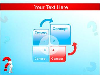 Homem e do ponto de interrogação Modelos de apresentações PowerPoint - Slide 5