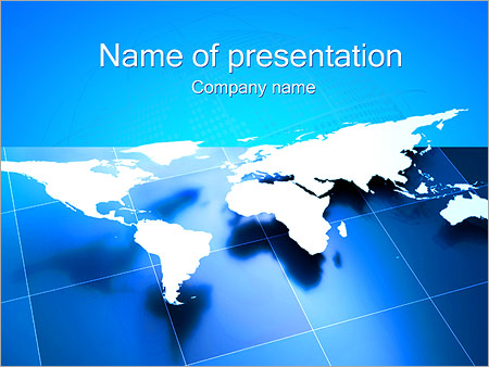 world business map powerpoint template & backgrounds id 0000002455, Modern powerpoint