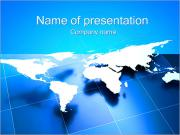 World Business Kaart Sjablonen PowerPoint presentaties
