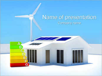 House Energy Chart PowerPoint Template