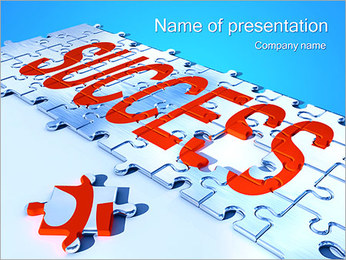 Puzzle and Success PowerPoint Template