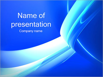 Light Blue Lines PowerPoint Template