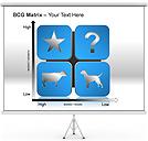 BCG Matrix Gráficos e diagramas para o PowerPoint