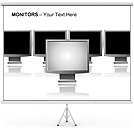 Monitors PPT Diagrams & Chart