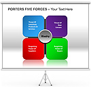 Porters Five Forces Gráficos y diagramas para PowerPoint