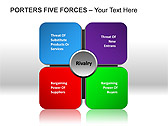 Porters Five Forces PPT Diagrams & Chart - Slide 1