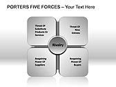 Porters Five Forces PPT Diagrams & Chart - Slide 2