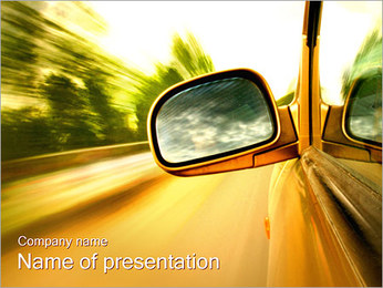 Car and Way PowerPoint Template - Slide 1
