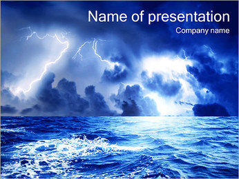 Storm In The See PowerPoint Template