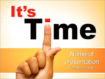 It Is Time PowerPoint Template