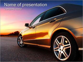Voiture sur la route Modèles des présentations  PowerPoint - Diapositives 1